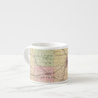 Map of Rock County, State of Wisconsin Espresso Cup