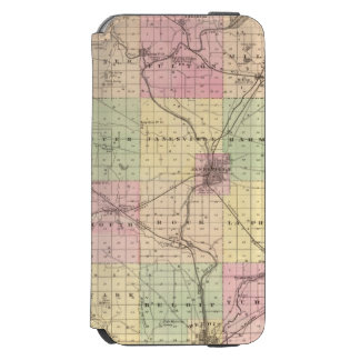 Map of Rock County, State of Wisconsin Incipio Watson™ iPhone 6 Wallet Case