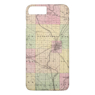 Map of Rock County, State of Wisconsin iPhone 8 Plus/7 Plus Case
