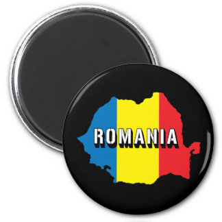 Map Of Romania Magnet