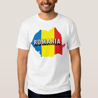 Map Of Romania T Shirt