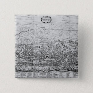 Map of Rome 15 Cm Square Badge