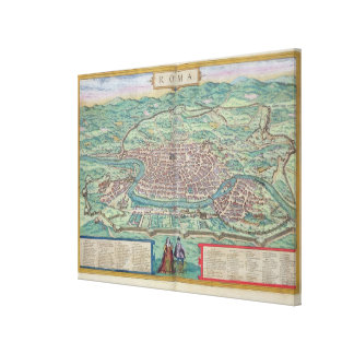Map of Rome, from 'Civitates Orbis Terrarum' by Ge Canvas Print