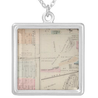 Map of Rushford, Fillmore County, Minnesota Silver Plated Necklace