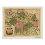 Map of Russia and Siberia 1706 Posters