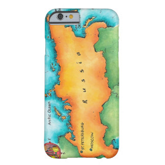 Map of Russia Barely There iPhone 6 Case