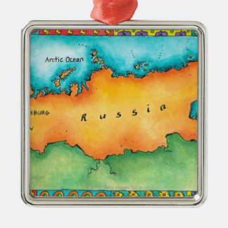 Map of Russia Ornaments