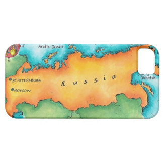 Map of Russia iPhone 5 Cases