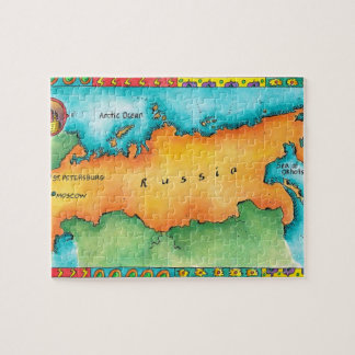 Map of Russia Jigsaw Puzzle