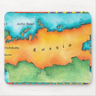 Map of Russia Mouse Mat