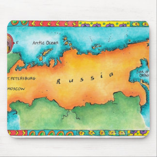 Map of Russia Mouse Pad