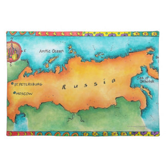 Map of Russia Placemat