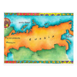 Map of Russia Postcard