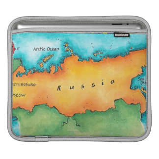 Map of Russia Sleeve For iPads