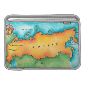 Map of Russia Sleeve For MacBook Air
