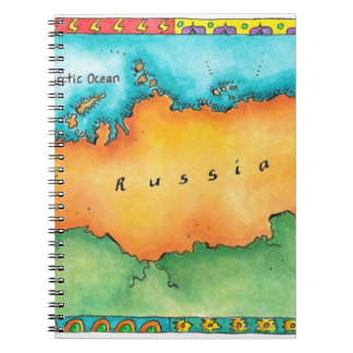 Map of Russia Spiral Note Book