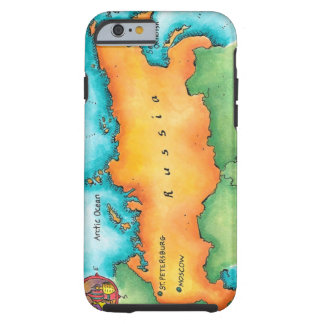 Map of Russia Tough iPhone 6 Case