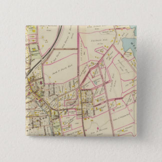 Map of Rye, New York 15 Cm Square Badge