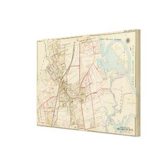 Map of Rye, New York Canvas Print