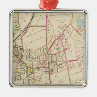 Map of Rye, New York Christmas Ornament