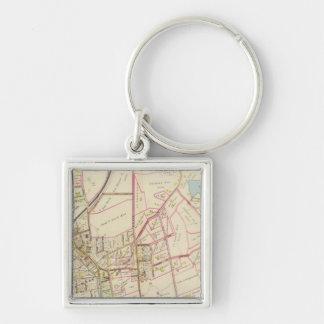 Map of Rye, New York Key Ring