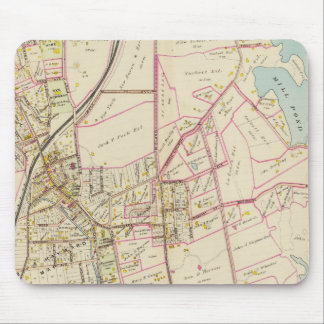 Map of Rye, New York Mouse Mat