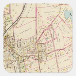 Map of Rye, New York Square Sticker