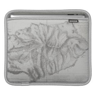 Map of Saint Helena Island iPad Sleeves