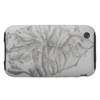 Map of Saint Helena Island iPhone 3 Tough Case