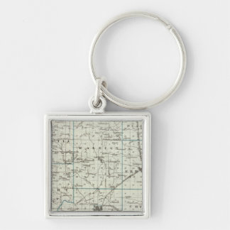 Map of Saline County Key Ring