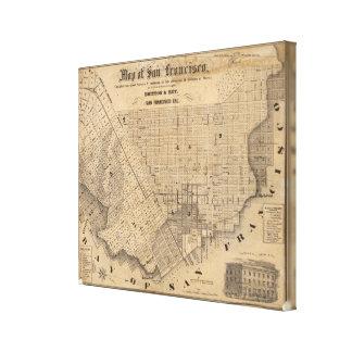 Map of San Francisco Canvas Print