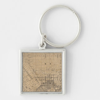 Map of San Francisco Silver-Colored Square Key Ring