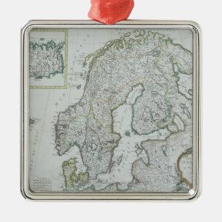 Map of Scandinavia Christmas Ornament