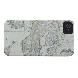 Map of Scandinavia iPhone 4 Cases