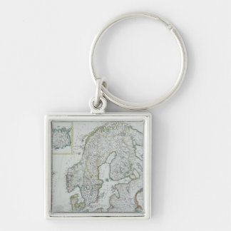 Map of Scandinavia Key Ring
