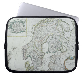 Map of Scandinavia Laptop Sleeve