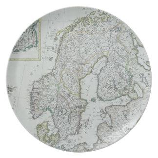 Map of Scandinavia Plates