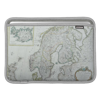 Map of Scandinavia Sleeve For MacBook Air