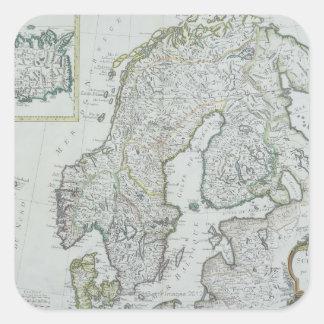 Map of Scandinavia Square Sticker