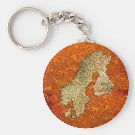 Map of SCANDINAVIA Travel Collection Key Ring