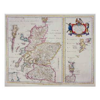 Map of Scotland, c.1700 Poster