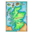 Map of Scotland Card
