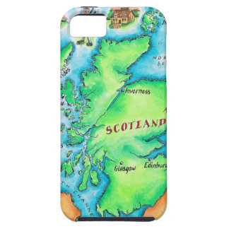 Map of Scotland Case For The iPhone 5