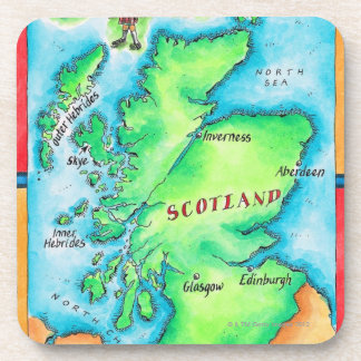 Map of Scotland Coaster