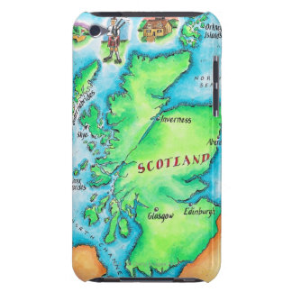Map of Scotland iPod Touch Case