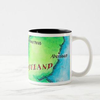 Map of Scotland Coffee Mug