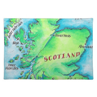 Map of Scotland Placemat