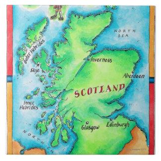 Map of Scotland Tile