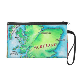 Map of Scotland Wristlet