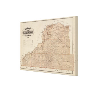 Map of Scott County, Minnesota Canvas Print